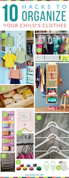 How to organize your kids closet, clothes and outfits Hacks, Tips and Tricks for Organized, Stress-Free Mornings with kids Organisation Hacks, Kids Clothes Organization, School Organization, Closet Organization, Nursery Organization, Organize Kids Clothes, Organize Clothing, Kids Clothes Storage, Organizar Closet