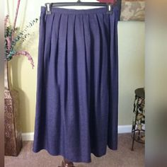 100% SILK Pleated Skirt Purple Passion silk skirt partial elastic back band with front fabric band and side zipper er with hook n eye closure. Skirts