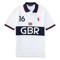 Great Britain Cotton Polo - Boys 1 ½ - 6 years Polo Shirts & Rugbys  - Ralph Lauren UK