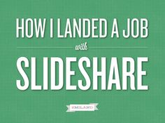 How I landed a job with Slideshare - awesome idea for a unique resume! Curriculum Vitae Examples, Curriculum Vitae Resume, Creative Jobs, Creative Resume, Unique Resume, Presentation Format, Presentation Styles, Visual Resume, My Future Career