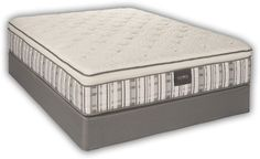 "Restonic ComfortCare Signature The Ashton is $1,599 incl foundation. 10 year warranty. This mattress features individually wrapped coils to reduce felt movement to sleeping partners and  is available in Plush or Firm feel 13"" high. Flippable."