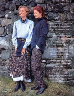 Laura Ashley Holiday 1994, page 9:  Babywale skirt, Victorian blouse, petticoat.