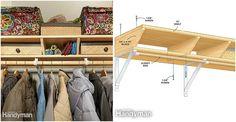 Closet Shelves - Twin Closet Shelf Design - http://diytag.com/closet-shelves-twin-closet-shelf-design/