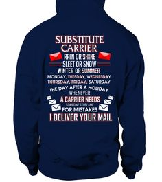 Substitute Carrier Deliver Your Mail Shirt - Giggle Rich - 1