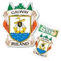 Galway Ireland County Decal Sticker Irish GAA Auto for sale online Galway Ireland, Coat Of Arms, Irish, Decals, Stickers, Ebay, Check, Tags, Irish Language