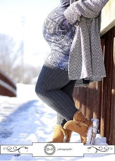 Love this winter maternity photo