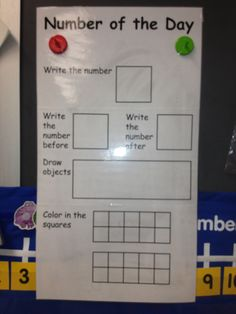 Click on the link..this teacher is BLIND! Amazing and inspirational...Number of the day - laminate and use dry erase