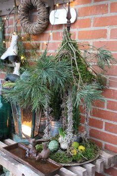 Fru Pedersens have Christmas 2017, Christmas And New Year, Christmas Time, Christmas Wreaths, Christmas Crafts, Xmas, Outdoor Christmas Decorations, Holiday Decor, Homemade Christmas Tree