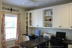 office-diy-white-built-ins-wood-countertop
