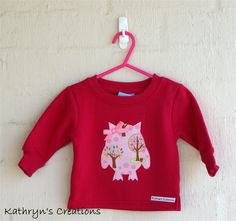 Hot Pink Fleece Jumper with Pink Owl Applique | Kathryn's Creations | madeit.com.au