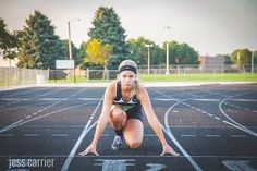 Senior Photo Running Track (click to see more sports photo ideas for seniors)
