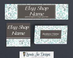 Basic Branding Package Bundle - Etsy Shop Cover Basic Branding Set With Business Card Design - Etsy Shop Cover - Kaylee by RhondaJai on Etsy