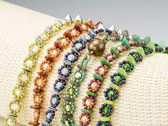 bead bracelet, crown variat, tripl crown, seed beads