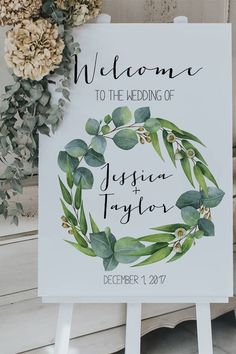 Eucalyptus Wedding Welcome Sign (DIY Print)