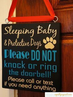 Sleeping Baby & Protective Dogs. Call or text. I so need this!!!!