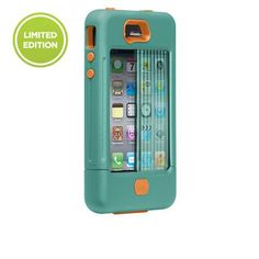 iPhone 4/4S TANK Case in Turquoise/Tangerine Tango by case-mate.com