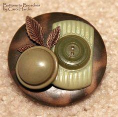 Button Broach using unique buttons