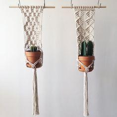 Handmade Macramé Hanging Planter // Medium Size // Natural Cotton // 70s Inspired // Plant Hanger