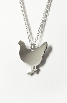 Chicken necklace silver Silver Necklaces, Chicken, Room, Crafts, Jewelry, Design, Bedroom, Manualidades, Jewlery