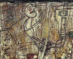 dubuffet art | Dubuffet was fascinated by graffiti and art created by people ...