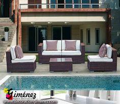 Muebles de Terraza y jardín, Tumbonas, parasoles y mucho más en: http://www.decoraciongimenez.com/terraza-jardin/mesas-y-sillas