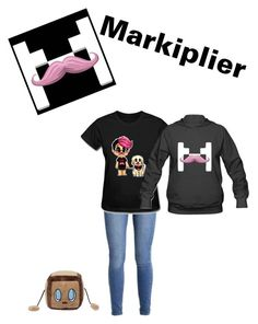"""A Markiplier Fan Girl"" by manglethefox1 ❤ liked on Polyvore featuring art"