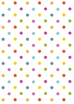 FREE printable polka dot pattern paper | polkadot