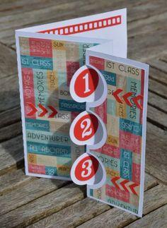 Triple Flip Flap Swing Card | papermilldirect