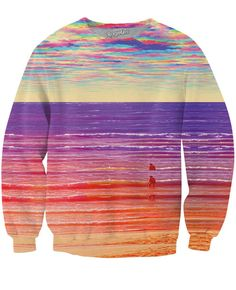Waves Crewneck Sweatshirt by Larry Carlson // $59.84