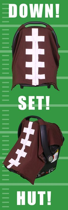 D-FENCE! Cover your baby with this adorable football print carseat cover from Kids N' Such. http://www.amazon.com/Kids-Such-Breathable-Year-round-Fashionable/dp/B011M7IJ3Y/ref=sr_1_25?s=baby-products&ie=UTF8&qid=1441325840&sr=1-25&keywords=carseat+canopy