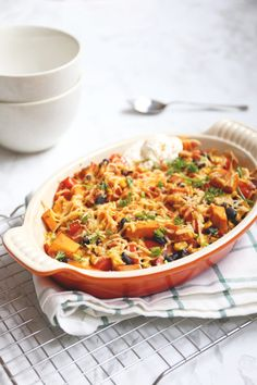 Mexican casserole with sweet potato - Delicious and Simple - Mexican casserole with sweet potato – Delicious and Simple Informationen zu Mexicaanse ovenschotel -