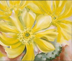 """Georgia O'Keeffe painted """"Yellow Cactus"""" in 1935. It will be among her works on display at the Denver Art Museum Feb. 10 through April 28."""