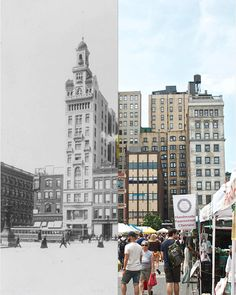 Awesome Then & Now Photos Of New York City: Union Square Then And Now Photos, Pix Art, A Level Art, I Love Ny, Union Square, Photo Series, Adventure Is Out There, Vintage Photography, Old Pictures