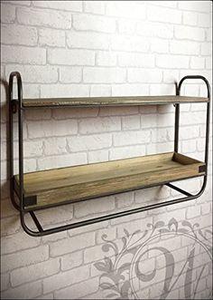 vintage industrial style metal wall shelf unit rack storage cupboard cabinet ca 44 cm hhe und 83 cm breit und 20 cm tief regal im