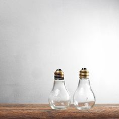 Lightbulb Salt and Pepper Shakers - Aesthetic Correlation Too cute. NEED.