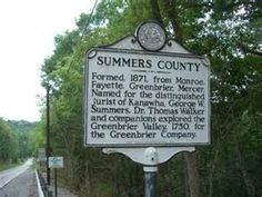 Monroe County/Summers County - West Virginia Historical Markers on ...