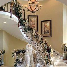 562 best Christmas Stair Decor images on Pinterest in 2018