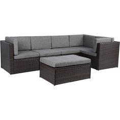 Baner Garden Outdoor Furniture Complete Patio Cushion PE Wicker Rattan Garden Corner Sofa Couch Set ** Click on the image for additional details.