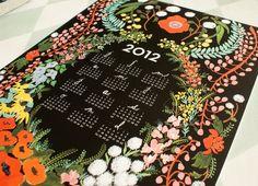 Language of Flowers 2012 calendar