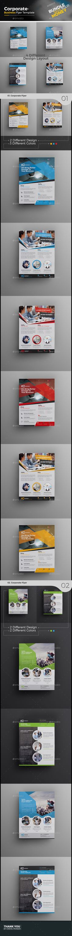 Buy Corporate Flyer Bundle by CRISTAL_P on GraphicRiver. Corporate Flyer Bundle is very easy to use and change text,color,size,look and everything so please don't worry abou. Psd Flyer Templates, Business Flyer Templates, Business Card Design, Flyer Design, Layout Design, Print Design, Graphic Design, Corporate Flyer, Corporate Business