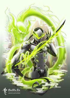 Genji Shimada (Overwatch) by Rachta Lin