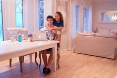 Fotballfrue Vanity, Mirror, Furniture, Home Decor, Painted Makeup Vanity, Homemade Home Decor, Lowboy, Dressing Tables, Mirrors