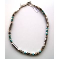 Dalmation Agate & Turquoise Necklace