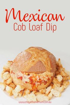 I take this Mexican Cob Loaf Dip when I go to BBQ's and it is always a smashing success! Loaf Recipes, Dip Recipes, Mexican Food Recipes, Vegetarian Recipes, Cooking Recipes, Mexican Desserts, Freezer Recipes, Freezer Cooking, Cooking Tips
