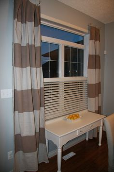 Drop cloth curtains! Painted!