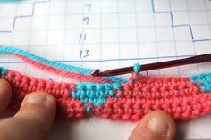 Technique :: Learning tapestry crochet, harlequin pattern tutorial by Jules of Little Woollie. You'll become an expert in carrying yarn colors, counting stitches, & reading a color diagram :-)