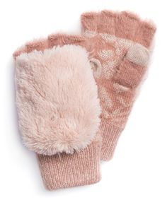 Heritage Collection by MUK LUKS Rose Gold Convertible Mittens | zulily