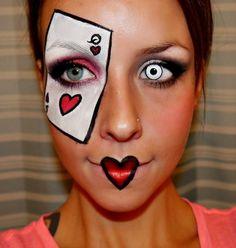 Queen of Hearts halloween makeup- Halloween makeup tutorials www.Youtube.com/empressmakeup