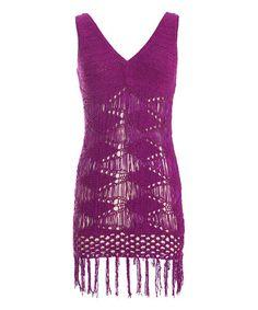 Look at this #zulilyfind! Purple Fauna Dress by Nick & Mo #zulilyfinds