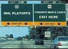 Toronto Maple Leafs exit here